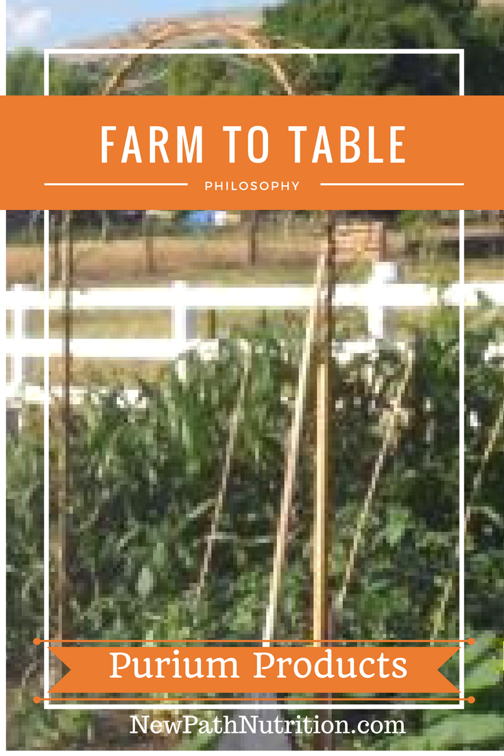 Purium farm to table philosophy