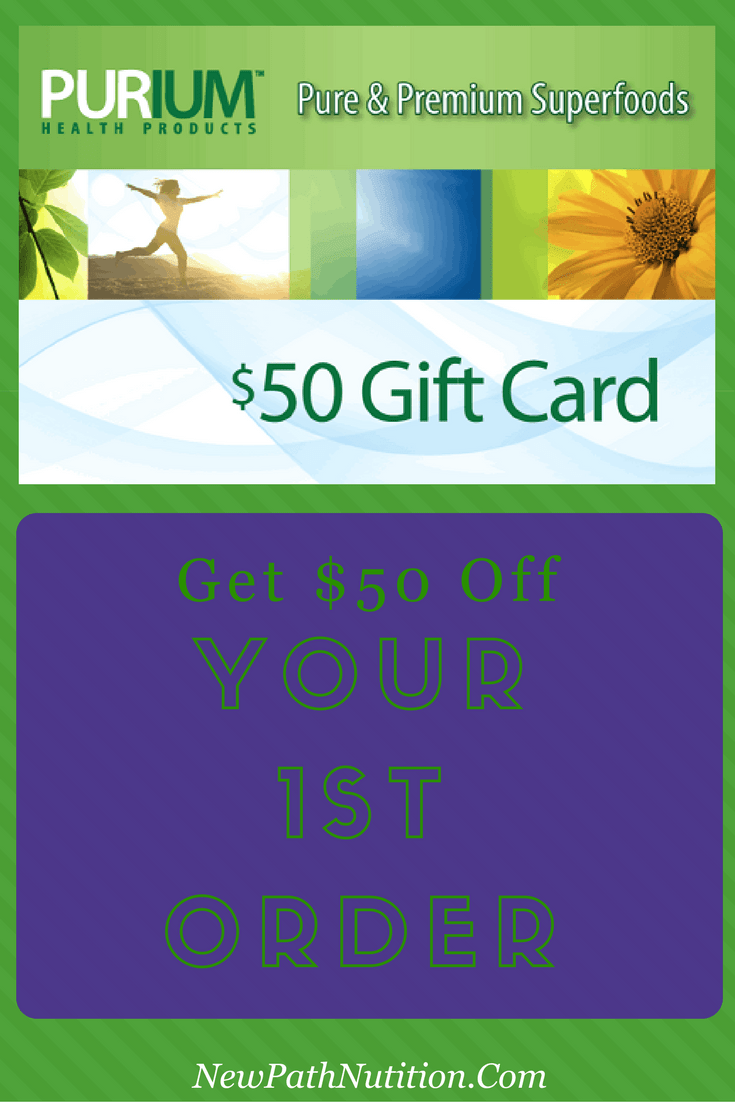 Get your $50 gift card for Purium products