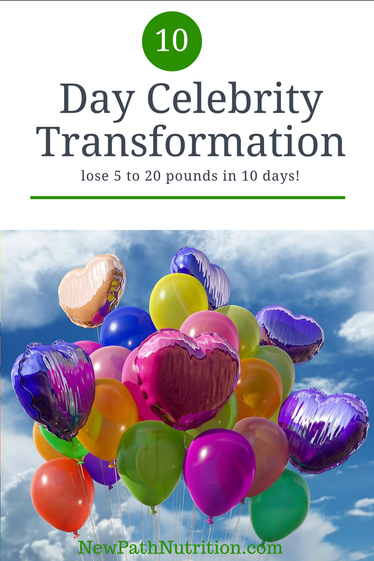 celebrity transformation - take a vacation from processed foods