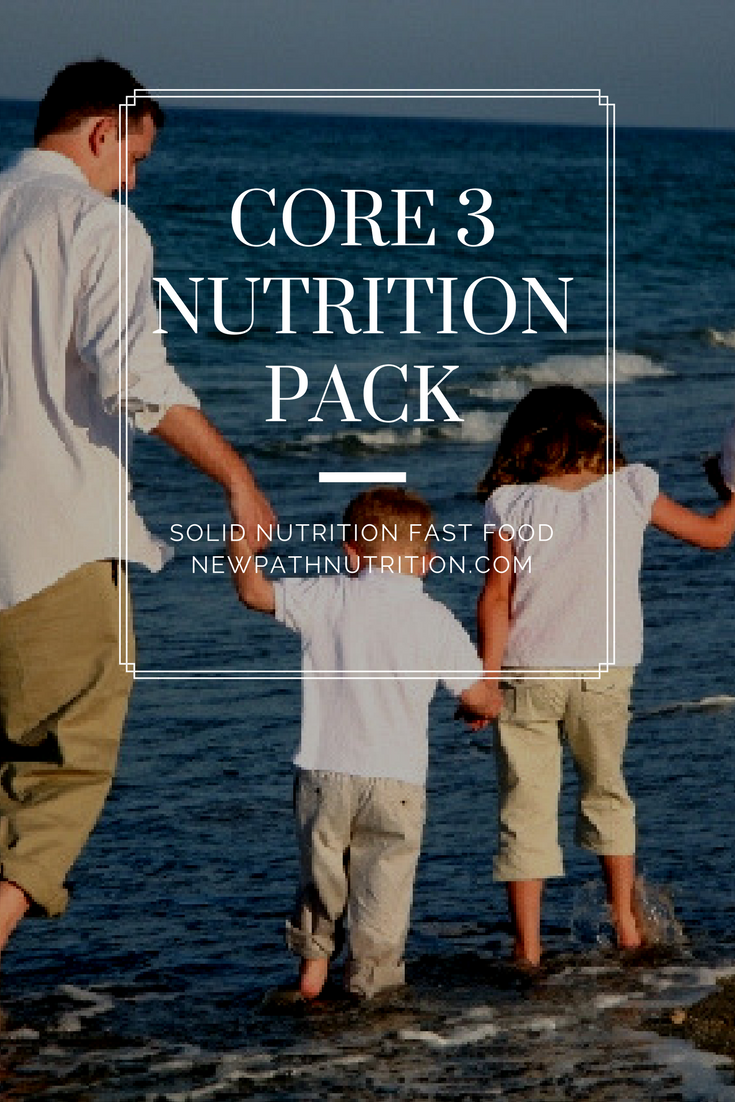core 3 nutrition pack fast food with real nutrition