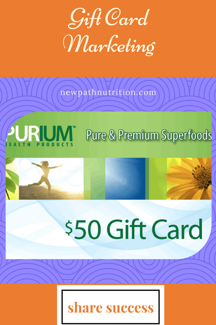 Get your $50 gift certificate towards the purchase of Purium products