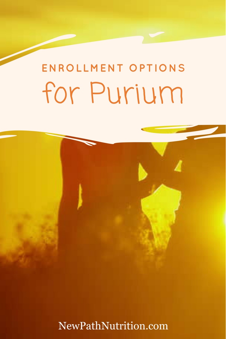 enrollment options when joining purium